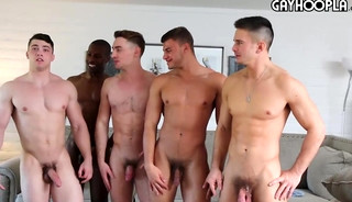 HOT Gay Orgy: Collin Simpson with Tyler, Alex, Forrest and Zach